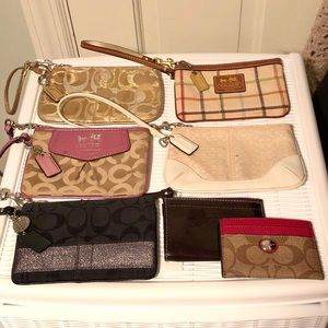 Coach Wristlet and Card Case Bundle Lot